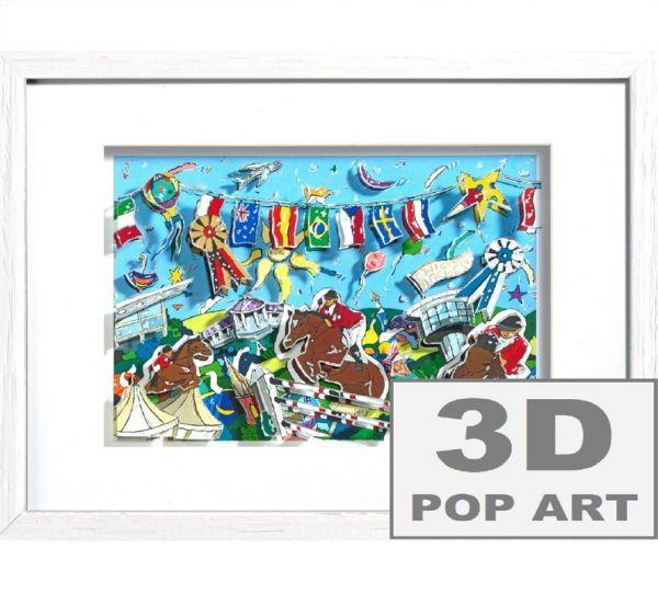 Aachen Chio Reitturnier 3D Pop Art Bild