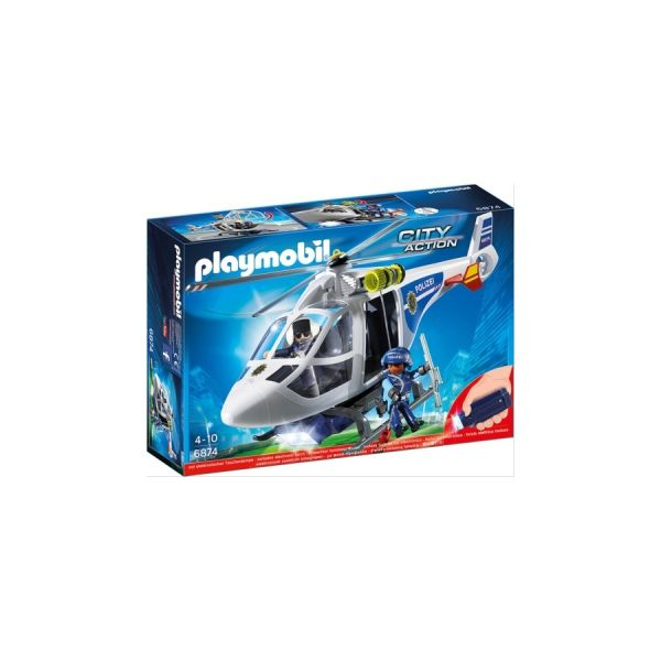 PLAYMOBIL® Polizei-Helikopter mit LED-Suchscheinwerfer