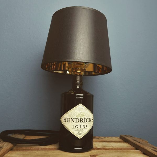 Flaschenlampe Hendricks Black