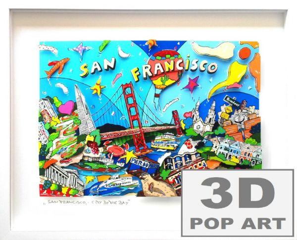 San Francisco USA 3D pop art Bild
