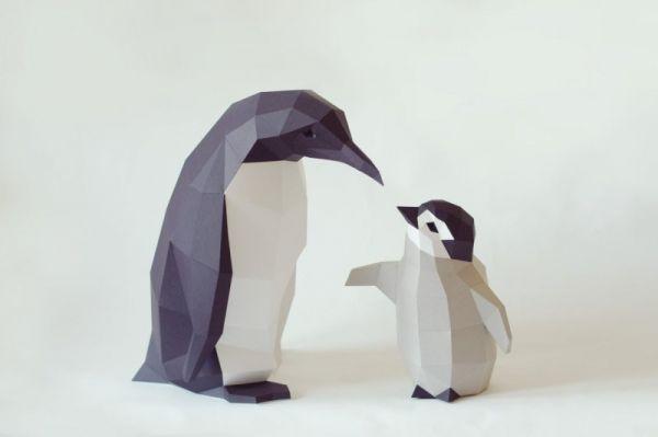 Pinguin Mama & Kind
