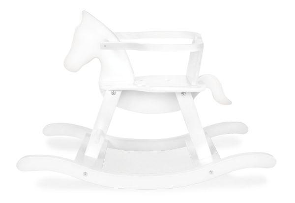 Schaukelpferd 'Pinolino' mit Ring, weiß