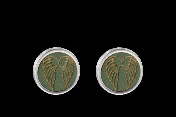 Ohrring Engelsflügel grün