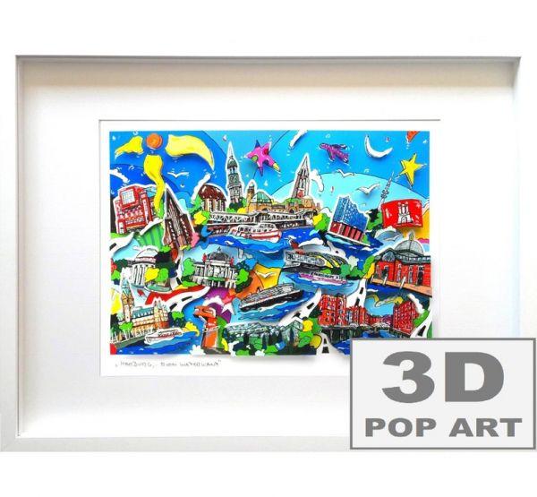 Hamburg 3D pop art Bild