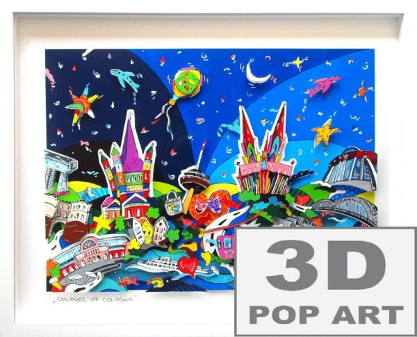 Köln 3D pop art Bild