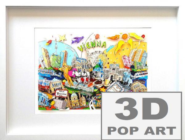 Wien 3D pop art Bild