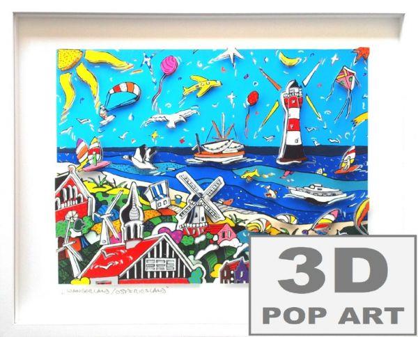 Nordsee 3D pop art Bild