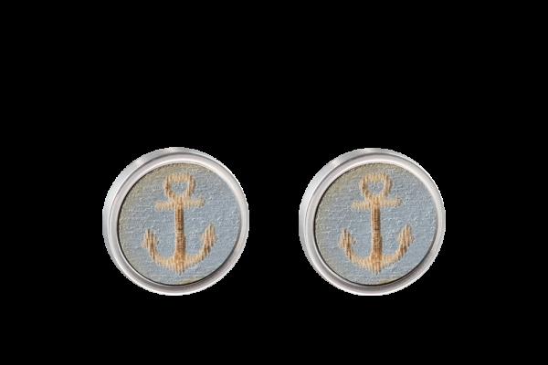 Ohrring Anker silber