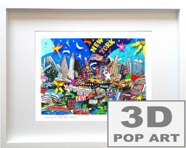 New York City 3D pop art Bild