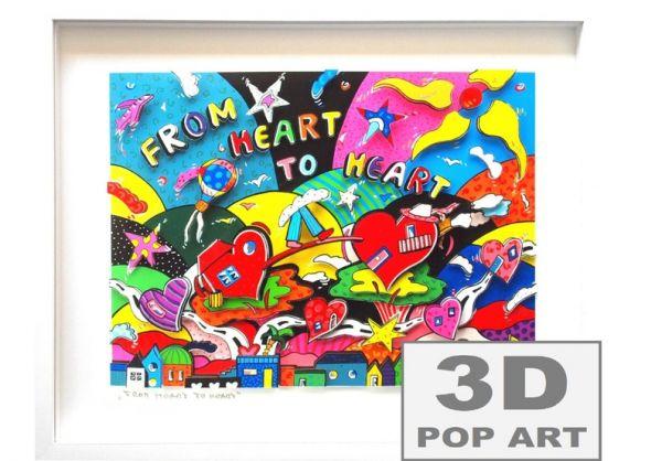 Liebe 3D pop art Bild