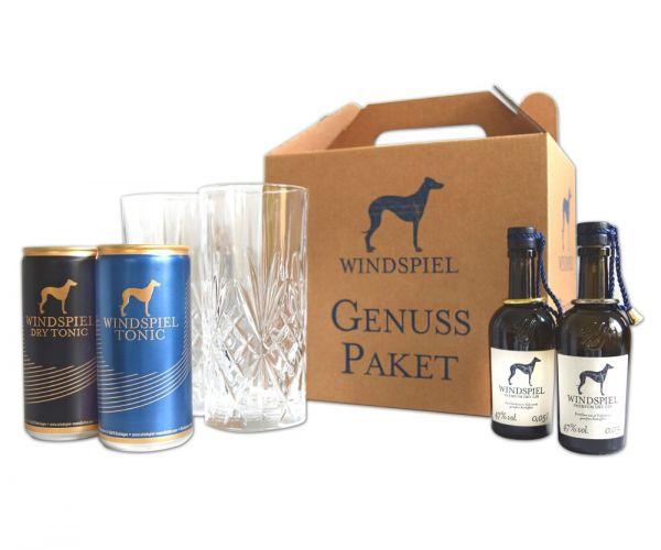 Windspiel Mini Genusspaket 2 Gläser, Gin & Tonic, Dry Tonic