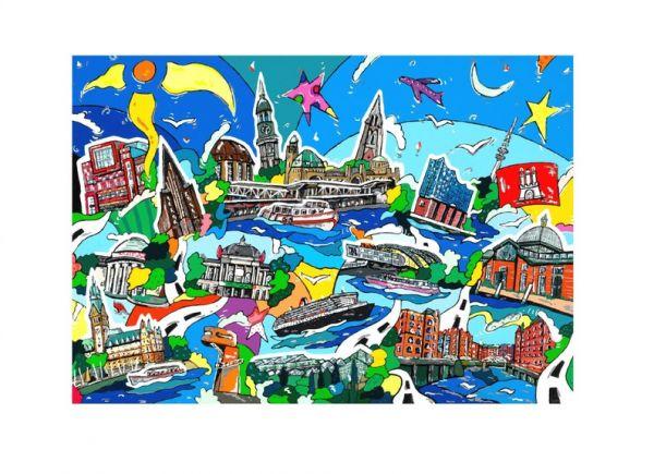 Deutsche Städte Fine Art-Print Bild