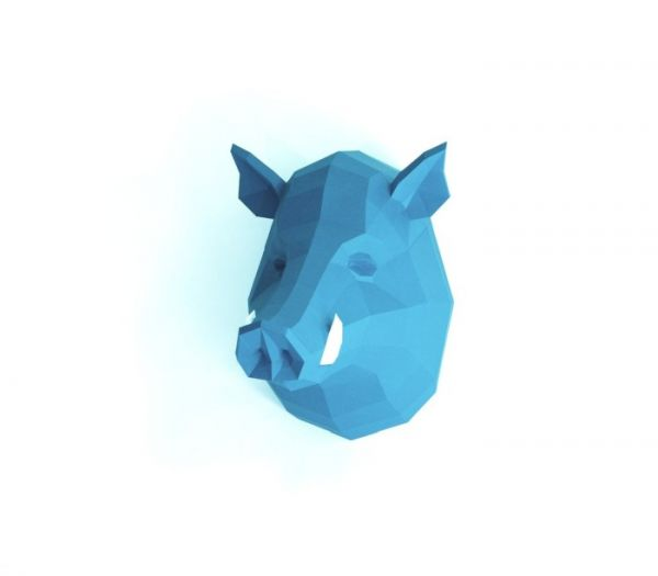 Wildschwein Papierskulptur