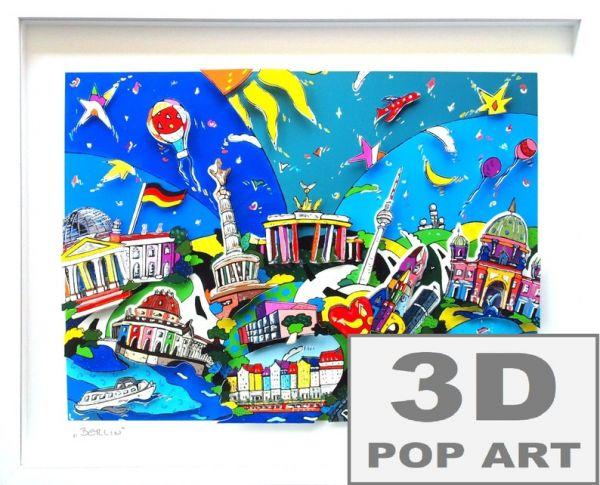 Berlin 3D pop art Bild