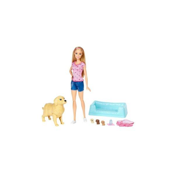 Hundemama, Welpen & Puppe Barbie