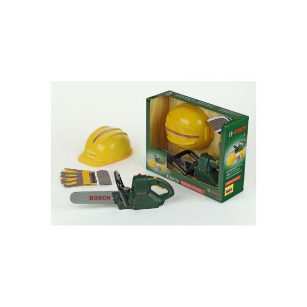 Bosch Kettensäge+Helm+Handschuhen