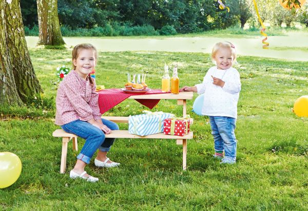 Kindersitzgarnitur 'Nicki für 4', natur
