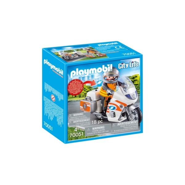 PLAYMOBIL® Notarzt-Motorrad mit Blinklicht