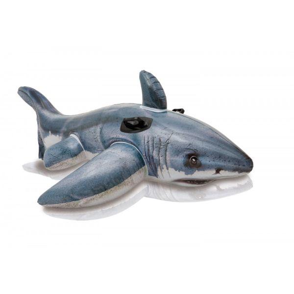 Weißer Hai aufblasbares Spieltier