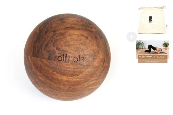 rollholz Kugel Walnuss 10cm
