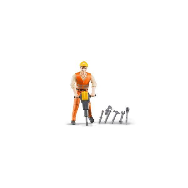 Bauarbeiter mit Zubehör