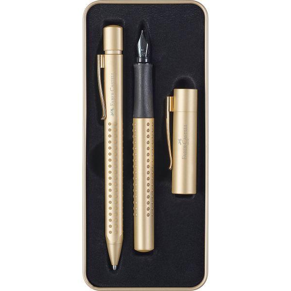 FABER-CASTELL Set Füller M & Kuli Grip Edition Gold