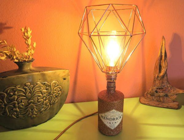 Flaschenlampe Hendricks Bronze Edition