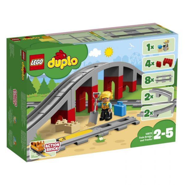 LEGO® Duplo Eisenbahnbrücke und Schienen