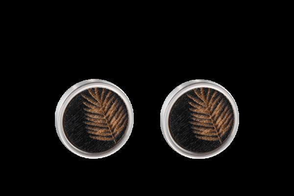 Feder Ohrring schwarz