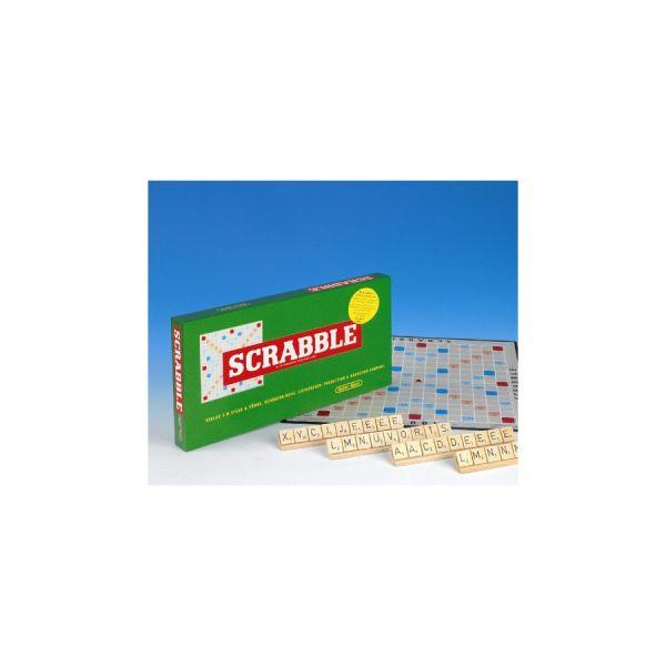 Scrabble Jubiläumsspiel mit Holzsteinen