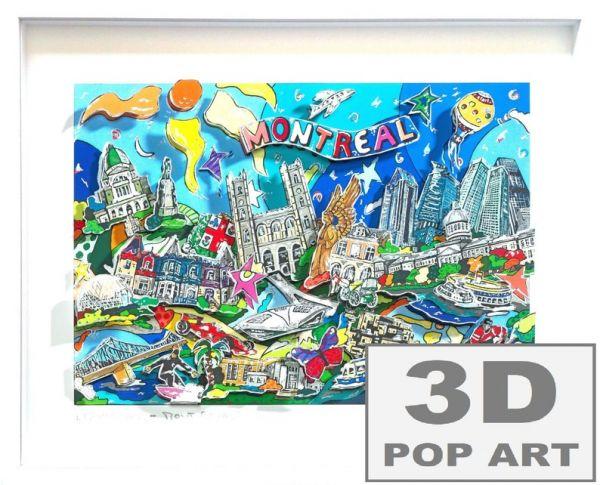 Montreal Kanada 3D pop art Bild