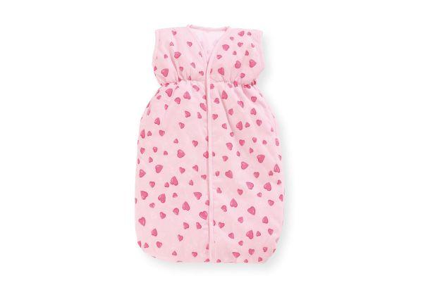 Puppenschlafsack 'Herzchen', rosa