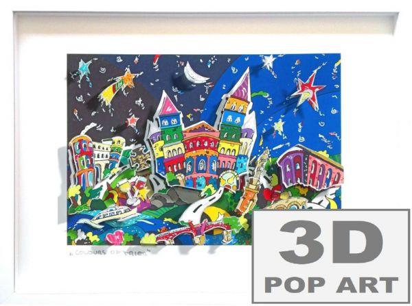 Trier 3D pop art Bild Städtebild