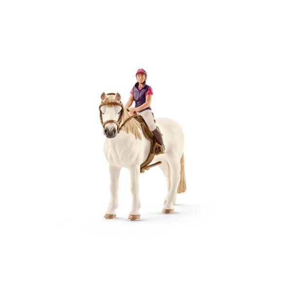 Freizeitreiterin mit Pferd