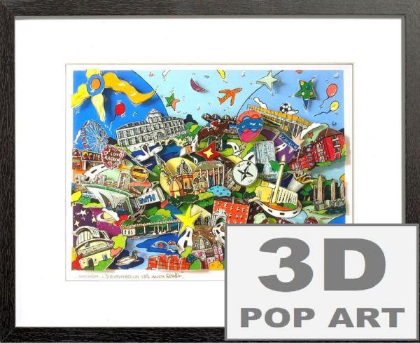 Aachen 3D mixed Pop Art Bild