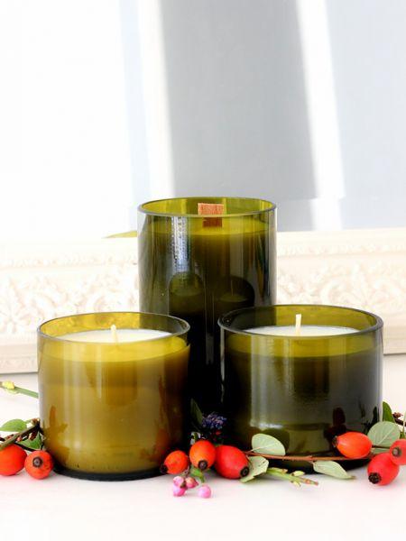 JK Kerzen Trio aus Weinflaschen